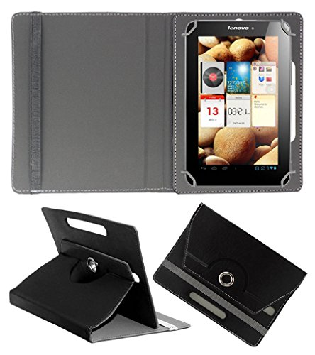 ACM ROTATING 360° LEATHER FLIP CASE FOR LENOVO IDEAPAD A2107 TABLET STAND COVER HOLDER BLACK  available at amazon for Rs.149