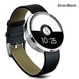 Buyee® Silber mit Schwarz wasserdichte Bluetooth Smartwatch Handy-Uhr für Apple iphone 4 / 4S / 5 / 5C / 5S / 6 / 6S Android Samsung S6 / S6 Rand / S4 / S5 / Note3 / Note 4 HTC