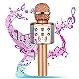 SOKY Karaoke-Mikrofon für Kinder, Mädchen 4-12 Jahre Einzigartiges Spielzeug für Mädchen ab 4-12 Jahre Bluetooth Karaoke Mikrofon für 4-12 jährige Kinder