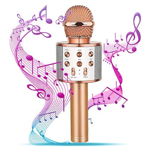 SOKY Spielzeug für Kinder 4-12 Jahre, Geschenke für Mädchen 4-12 Jahre Einzigartiges Spielzeug für Mädchen ab 4-12 Jahre Bluetooth Karaoke Mikrofon für 4-12 jährige Kinder