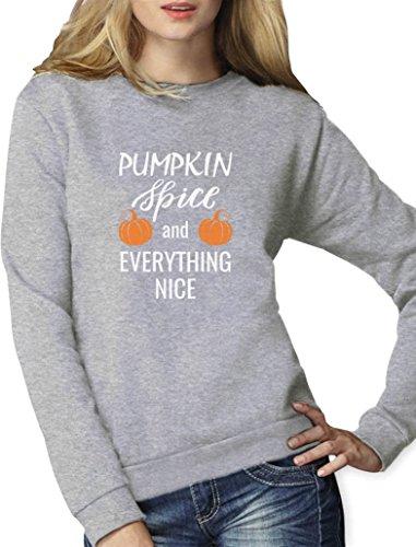 Pumpkin Spice Kürbis Halloween Geschenk Frauen Sweatshirt Small (Halloween Ideen Frauen Kostüme Kreative)
