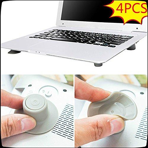good01praktischer Laptop Cooling Pad Gummi Rutschfest Füße Hitze Reduzierung Ständer für Notebook/iPad/Laptop (4Stück), laptop feet, 4 Stück -