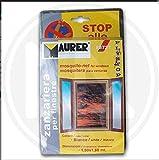 Maurer 1190505 - Zanzariera Con Velcro Per Finestre, Colore Bianco, Misura 150X180 Cm