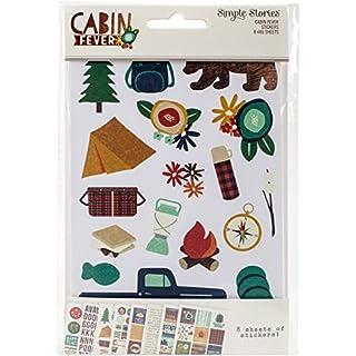 Simple Stories Cabin Fever Stickers, Paper, Multi-Colour, 17.2 x 11 x 0.3 cm
