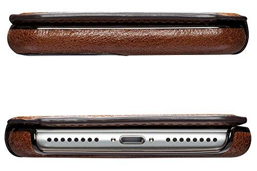 Sena Ultra Thin Wallet Book Schutzhülle für Apple iPhone 7Plus–cognac-parent cognac