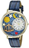 Whimsical Watches Unisex G1810008 Libra Royal Blue Leather Watch best price on Amazon @ Rs. 1302