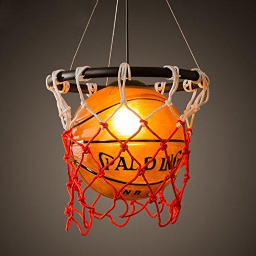Art-deco-glas-kronleuchter (MILUCE Kreativ Basketball Kronleuchter Persönlichkeit Restaurant Bar Gym Art Deco Glas Kronleuchter Ø32 * H48cm)