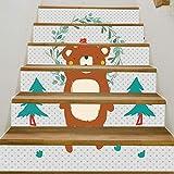 Wawer 1 Rolle / 6 PC Kreativ Aufkleber DIY Schritte Aufkleber Abnehmbare selbstklebendes PVC Treppe Aufkleber Home Decor Keramikfliesen Muster (A)
