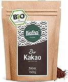 Bio Kakao Pulver (1000g) - 100% reines Kakaopulver stark entölt (11% Fett) -...