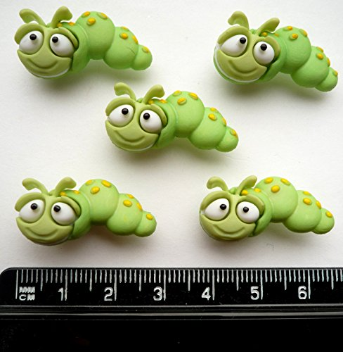 bug-eyed-caterpillars-novelty-craft-buttons-embellishments-by-dress-it-up