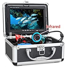 "Eyoyo 30m impermeable Profesional Buscador de los pescados Fish Finder pesca submarina cámara de vídeo 7 ""en color Monitor 1000TVL HD CAM 12pc infrarrojos luces"