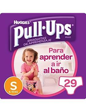 [Patrocinado]Huggies Pull-Ups - Braguitas de aprendizaje para niñas, talla S (8-15 kg), 29 braguitas