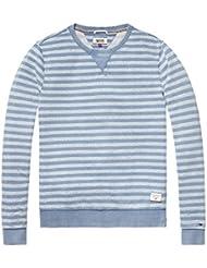 TOMMY HILFIGER DENIM 1957890195 STRIPE BLUE SWEATER Harren BLUE M