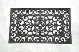 Homescapes Schmutzfangmatte Fußmatte Ornament 45 x 75 cm (Breite x Länge) Türmatte aus 100% Gummi strapazierfähiger Fußabtreter