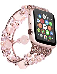 Uhrenarmband , ANGGO Mode Elastische Stretch iwatch Strap Ersatz Armbanduhr Armband Gürtel für Apple Watch Serie 2 Serie 1 Alle Version