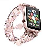 ANGGO Apple Watch Armband iwatch Strap Mode Elastische Stretch Ersatz Armbanduhr Armband Gürtel Uhrenarmbänder für Apple Watch Serie 3 Serie 2 Serie 1 Alle Version(42mm/Grau)