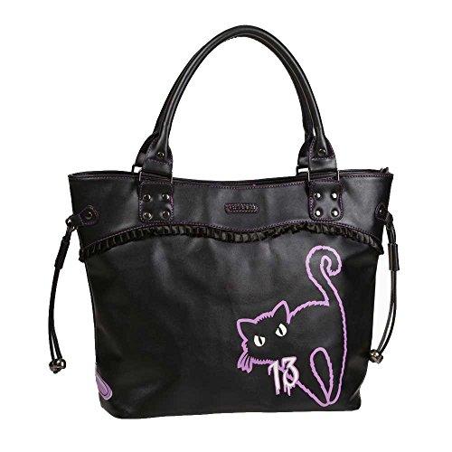 Bad Luck gatos y bolso negro espejo - Emo Rock - Un tamaño - Prohibidas