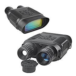 "Night Vision Binoculars, 640P HD Digital Infrared Hunting Binocular Scope with 2"" TFT LCD and 7X Magnification IR Camera with Video Recorder Function Day and Night in 1300ft for Wildlife Military"