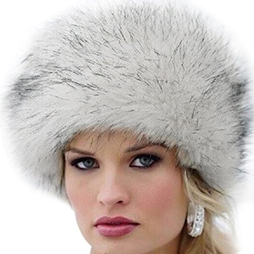 MIOIM Fellmütze Pelzmütze Damen Mütze Wintermütze Faux Fuchs Pelz Warm Weich Damenmütze Fliegermütze Cap Hut (Pelzmütze)