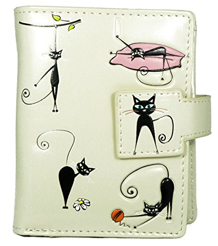 Shagwear Junge-Damen Geldbörse, Small Purse Designs: (Irre Katzen Creme/Crazy Cats)