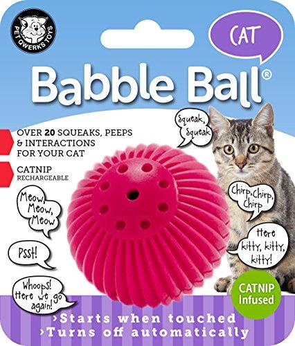 Pet Qwerks Kitty Babble Ball, pink