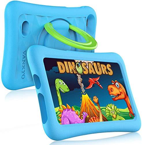 VANKYO MatrixPad Z1 Tablet per Bambini 7' 32GB ROM, Android 8.1 Oreo IPS HD Display WiFi Bluetooth Kidoz Preinstallato con Kid-Proof Custodia (Azzurro)