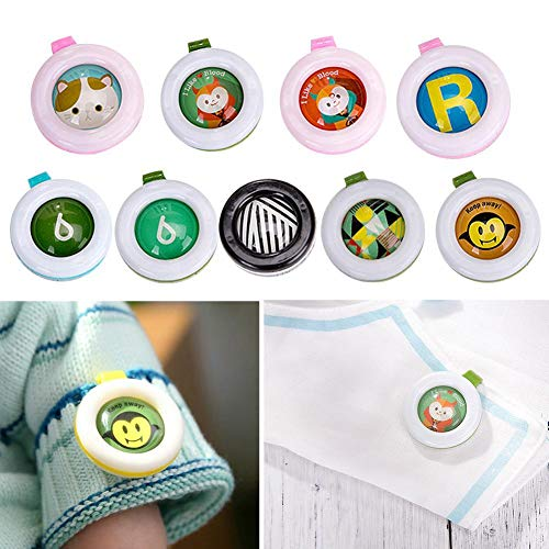 Hengbaixin 5PCS/Set Cartoon Anti-zanzare Button Safe Anti-Mosquito Fibbia per Neonati Baby Kids