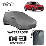 #10: Fabtec Waterproof Car Body Cover for Maruti Swift with Mirror & Antenna Pockets, Buckle Lock and Storage Bag Combo!