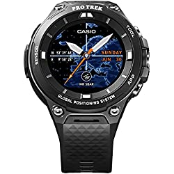 Casio wsd-f20bk Bluetooth Black Sport Watch – Sport reloj (Black, Water resistant, 50 m, Climbing, Cycling, Fishing, Running, 12h/24h, 4000 MB)