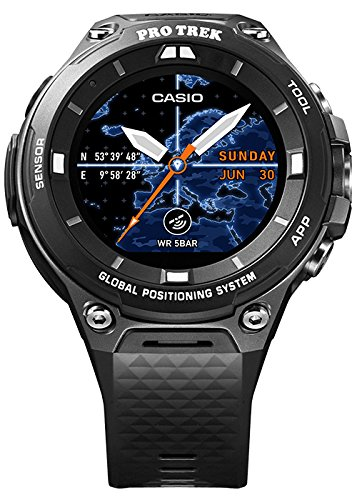 Casio wsd-f20bk Bluetooth Black Sport Watch – Sport Uhr (Black, Water Resistant, 50 m, Climbing, Cycling, Fishing, Running, 12h/24h, 4000 MB)