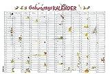 Geburtstags-Wandplaner Cartoon - Geburtstagskalender (49,5 x 33,5) - Jahresunabhängig