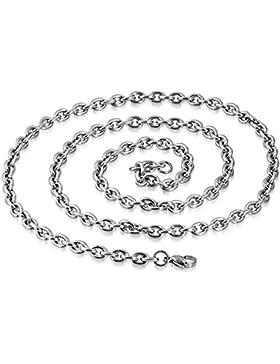 Halskette EK 11 bk3 Edelstahl Kette 2,7 mm Gliederkette 60 cm Edelstahlhalskette