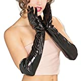 Kanpola Womens Leather Gloves Long gloves Warm Sexy Temptation