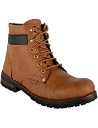 WILDLOOK MEN TAN COLOR 100% SYNTHETIC LEATHER BOOTS & TPR SOLE