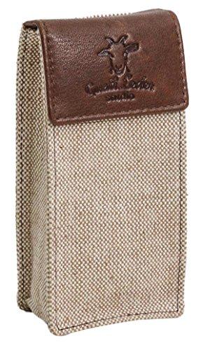 Custodia per sigaretta elettronica Gusti Leder studio ' Baranabas' astuccio per E-sigaretta in vera pelle e tela marrone 2T23-33-10