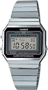 Casio Collection A700WE - Orologio digitale da donna, con cinturino in acciaio inox