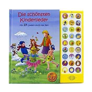 27-Button Soundbuch - Die schönsten Kinderlieder zum Mitsingen - Mit 27 Liedern durch das Jahr Hardcover-Buch mit Noten - Liederbuch
