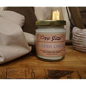 Cozy Glow frische Bettwäsche Soja Kerze Jar - 35 + Stunden Burning Time