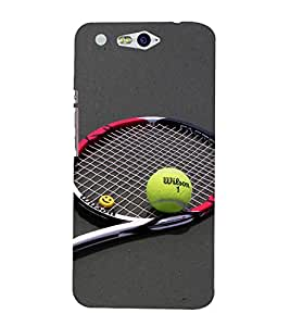 Vizagbeats Tennis Racket Ball Back Case Cover for Infocus M812