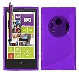Nokia Lumia 1020 Étui HCN PHONE S-Line TPU Gel Silicone Coque souple pour Nokia Lumia 1020 + stylet - VIOLET