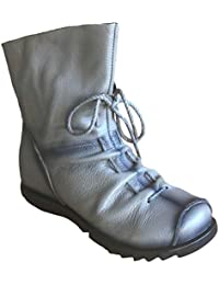 Vogstyle Damen Stiefel Weiches Leder Stiefeletten Gefüttert
