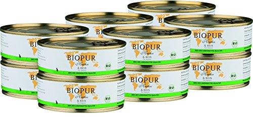 BIOPUR Bio Huhn & Reis für Katzen 12x200g -