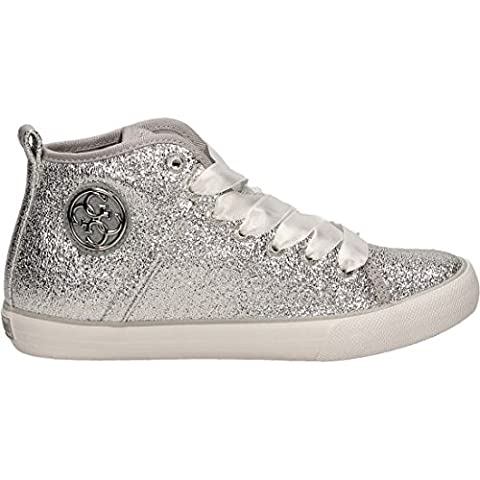 Chaussures Femme Guess - Guess Floel1 Lel12 Sneaker femmes Argent, Taille