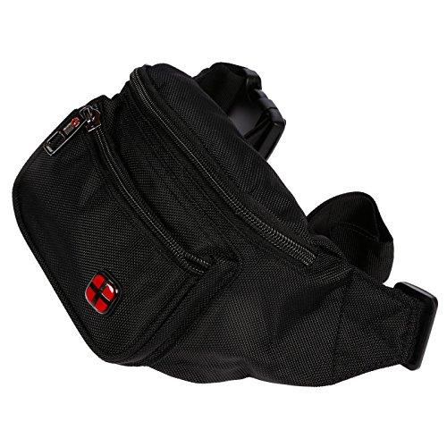 Christian Wippermann® Mochila de trekking negro Modell L 24x18x10 cm