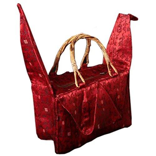 Bambus-doppel-griff-handtasche (tausend origami storch typ handtasche / bambus griff tasche / beutel)