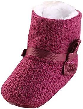 Ouneed® Krabbelschuhe , Baby Stricken Baumwolle Soft Sole Schnee Stiefel Soft Crib Schuhe Kleinkind Stiefel