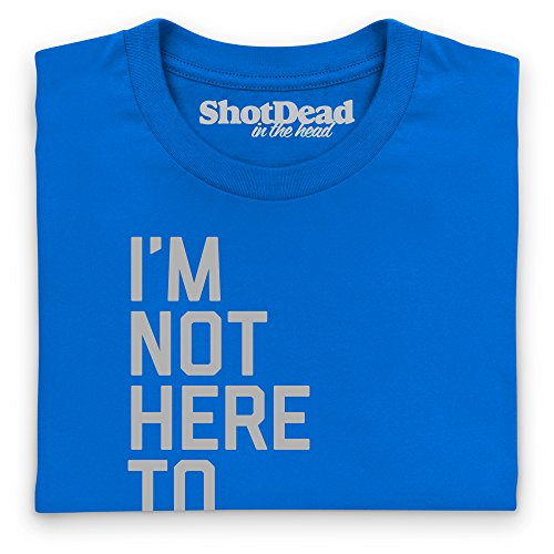 Not Here To Make Friends T-Shirt, Herren Royalblau