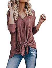 07b08ee89a Amazon.it: Maglioni Lunghi Donna - T-shirt, top e bluse / Donna ...
