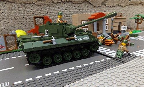 ★ World of Tanks 3006 – Bausteine US ARMY Panzer, 465 Teile, leichter Jagdpanzer M18 Hellcat, inkl. custom US ARMY Soldaten aus original Lego© Teilen ★ - 2