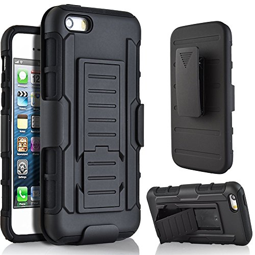 Nutbro iPhone SE Case, iPhone 5s Case, Wallet Style Case [Stand Feature] with Built-in Credit Card Slots Wallet Case for iPhone 5s / iPhone SE HH-KJ-iPhone-5S-C